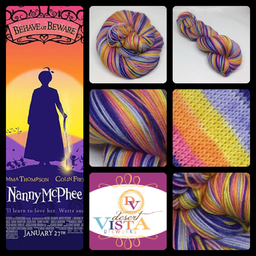 Nanny McPhee Five Stripe Self Striping Yarn