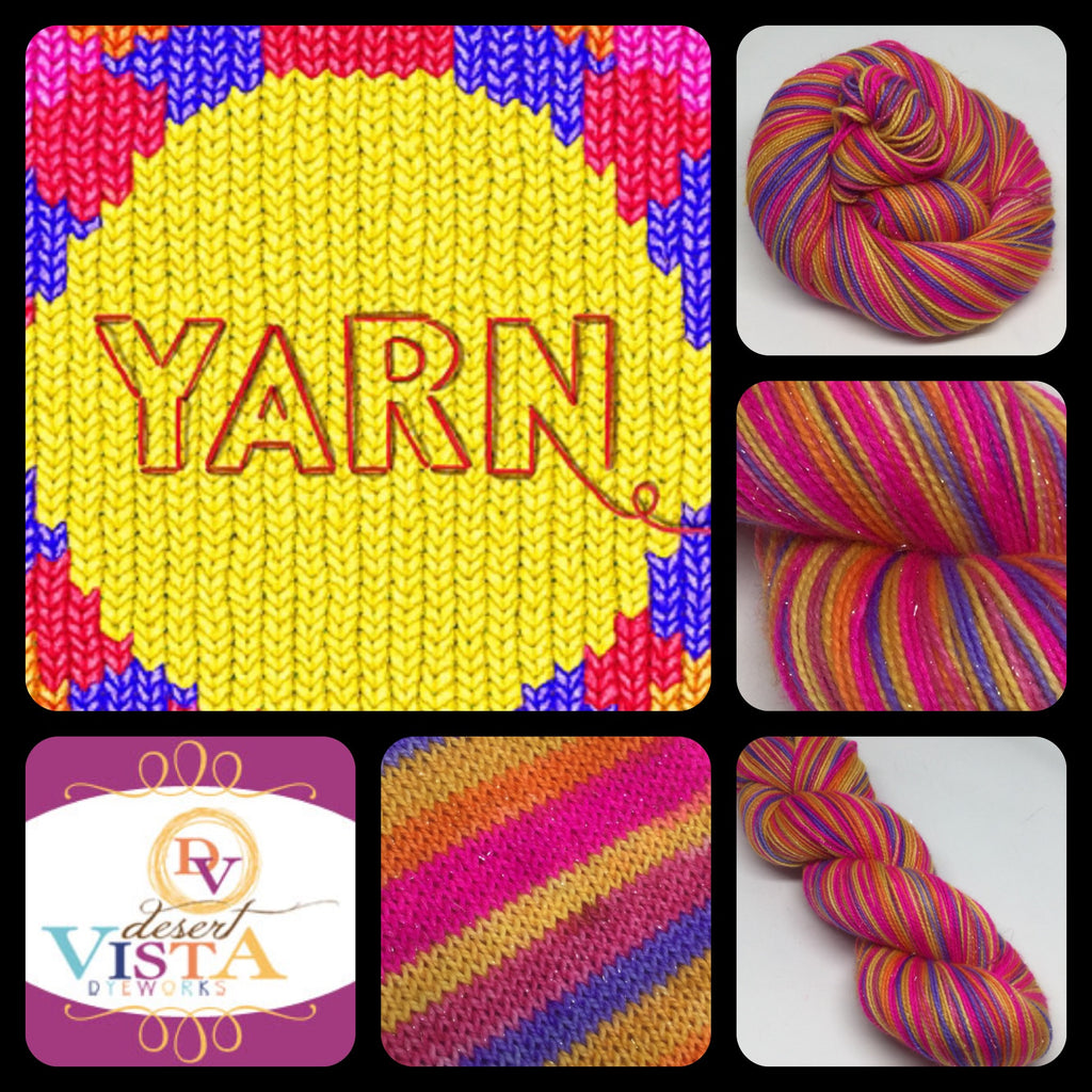 Yarn Six Stripe Self Striping Yarn