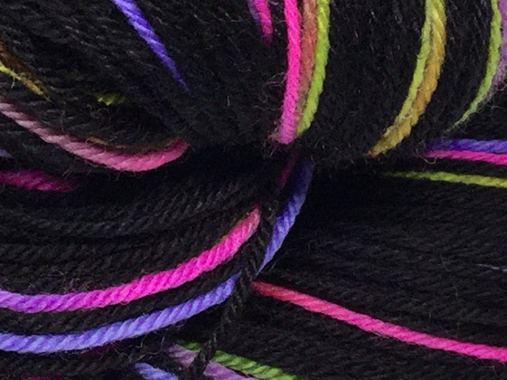 Colors of the Dark Two Stripe Self Striping Yarn