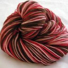 Dark Chocolate Covered Cherries Three Stripe Self Striping Yarn