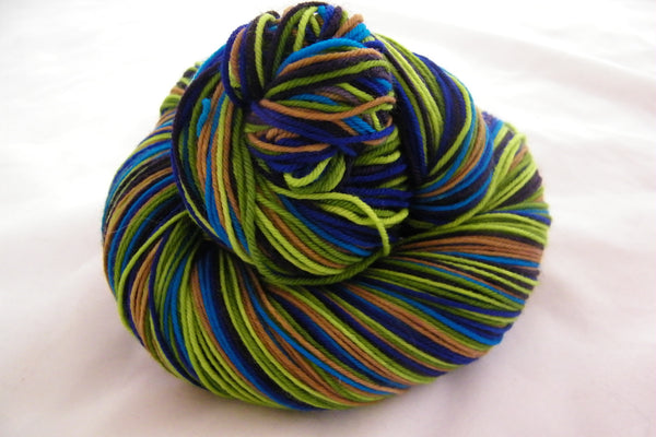 Proud as a Peacock Six Stripe Self Striping Yarn
