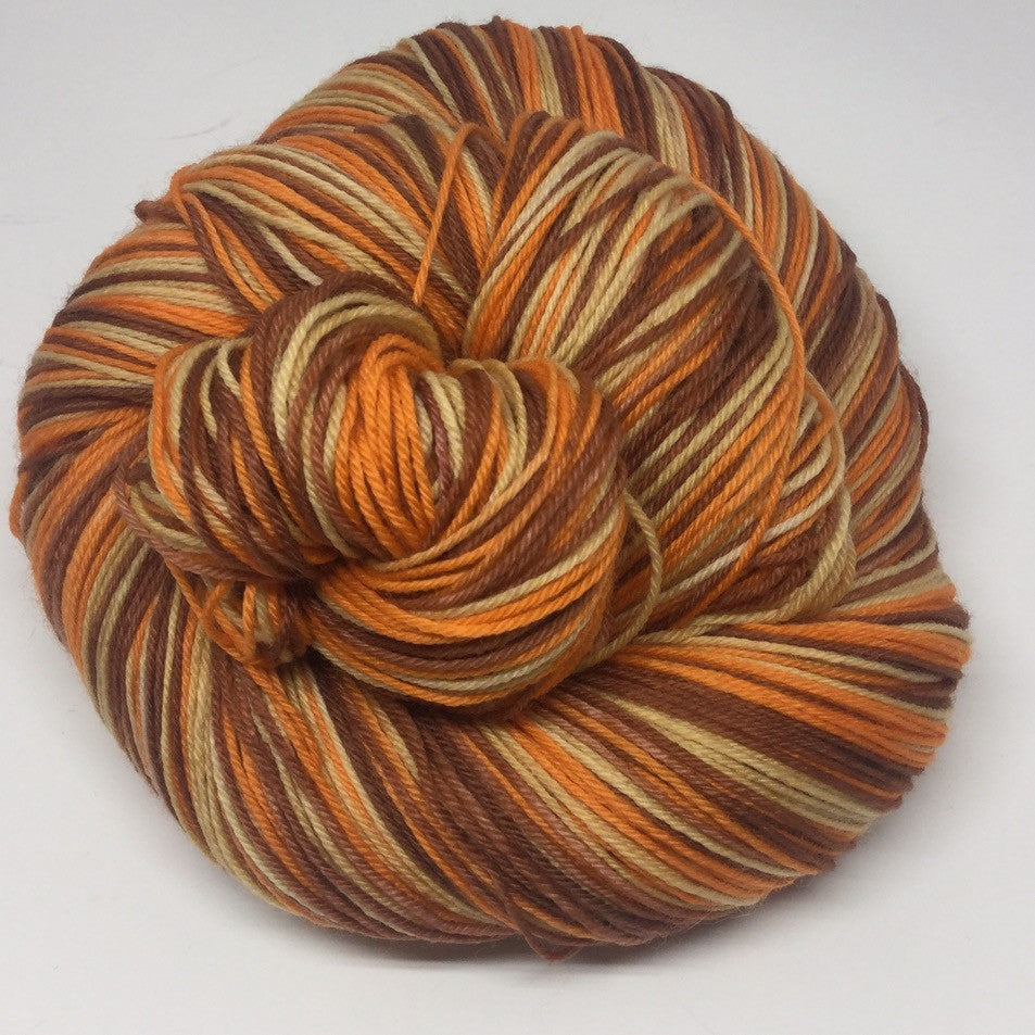 Pumpkin Pie Three Stripe Self Striping Yarn