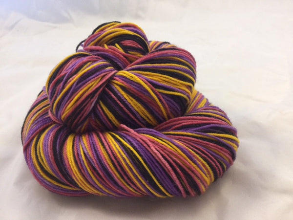 Cognac Monnet Four Stripe Self Striping Yarn
