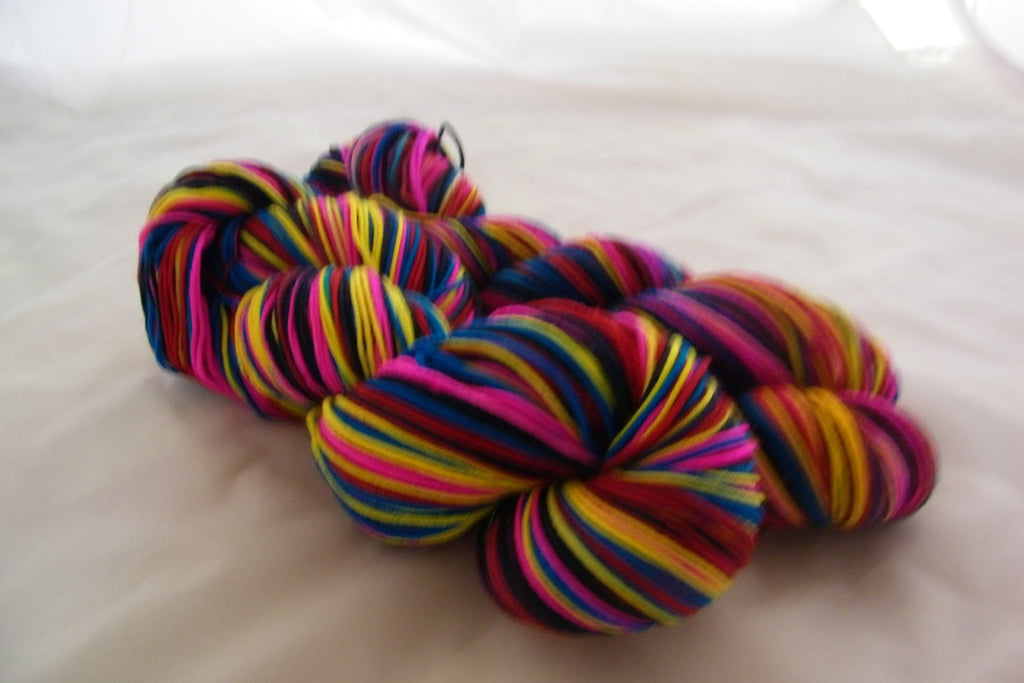 A Colorful Celebration Five Stripe Self Striping Yarn