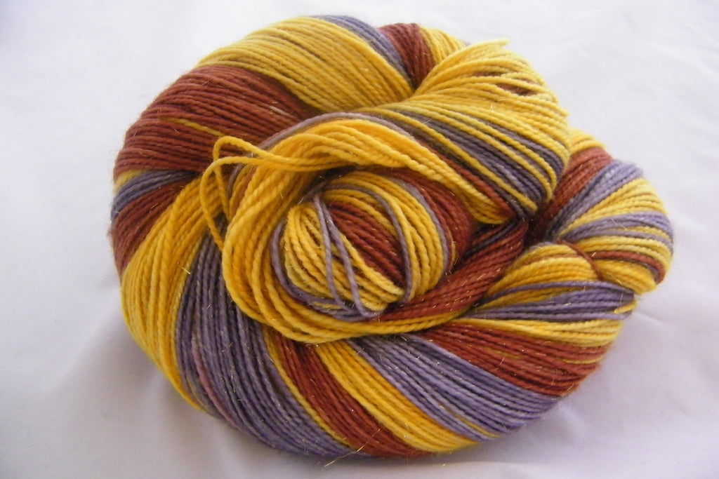 Metallic Holiday ColorBlock Yarn