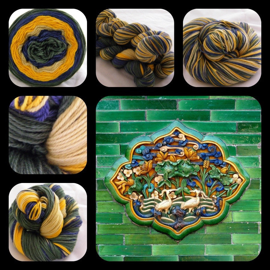 Tiles of the Forbidden City Four Stripe Self Striping Yarn