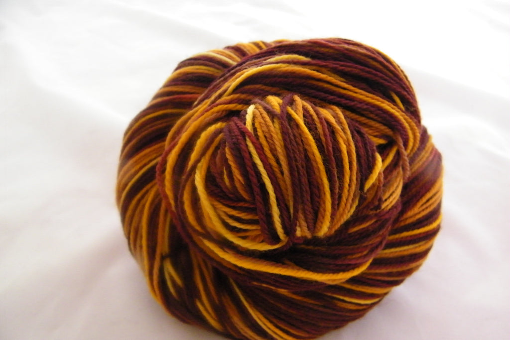 Colors of Autumn Four Stripe Self Striping Yarn