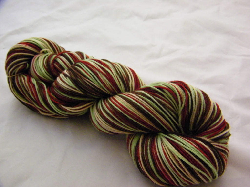 Mint Cocoa Quilt Four Stripe Self Striping Yarn