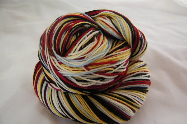 School is in Session Six Stripe Self Striping Yarn
