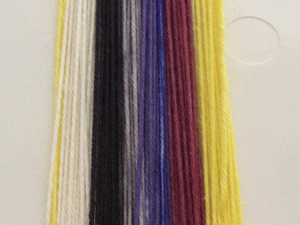 French Perfume Six Stripe Self Striping Yarn