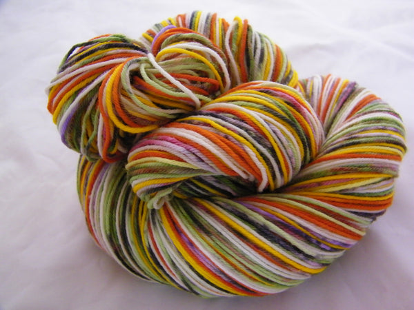 ZomBody's Eating Candy Corn Eight Stripe Self Striping Yarn