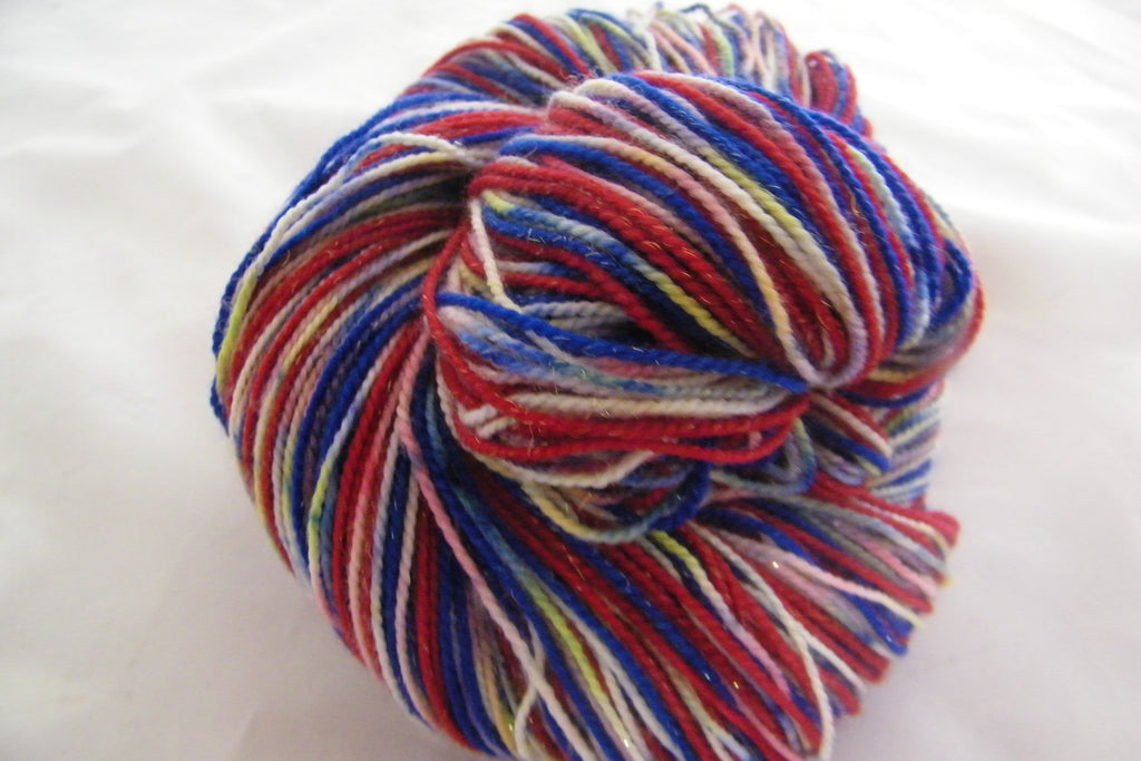 Fireworks on the Fourth Stripe Self Striping Yarn