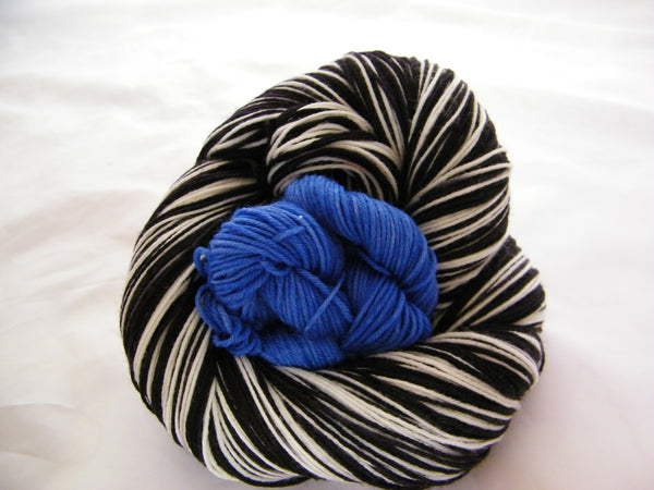 Elvis Two Stripe Self Striping Yarn with Heel and Toe Mini Skein