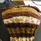 German Chocolate Cake Four Stripe Self Striping Yarn
