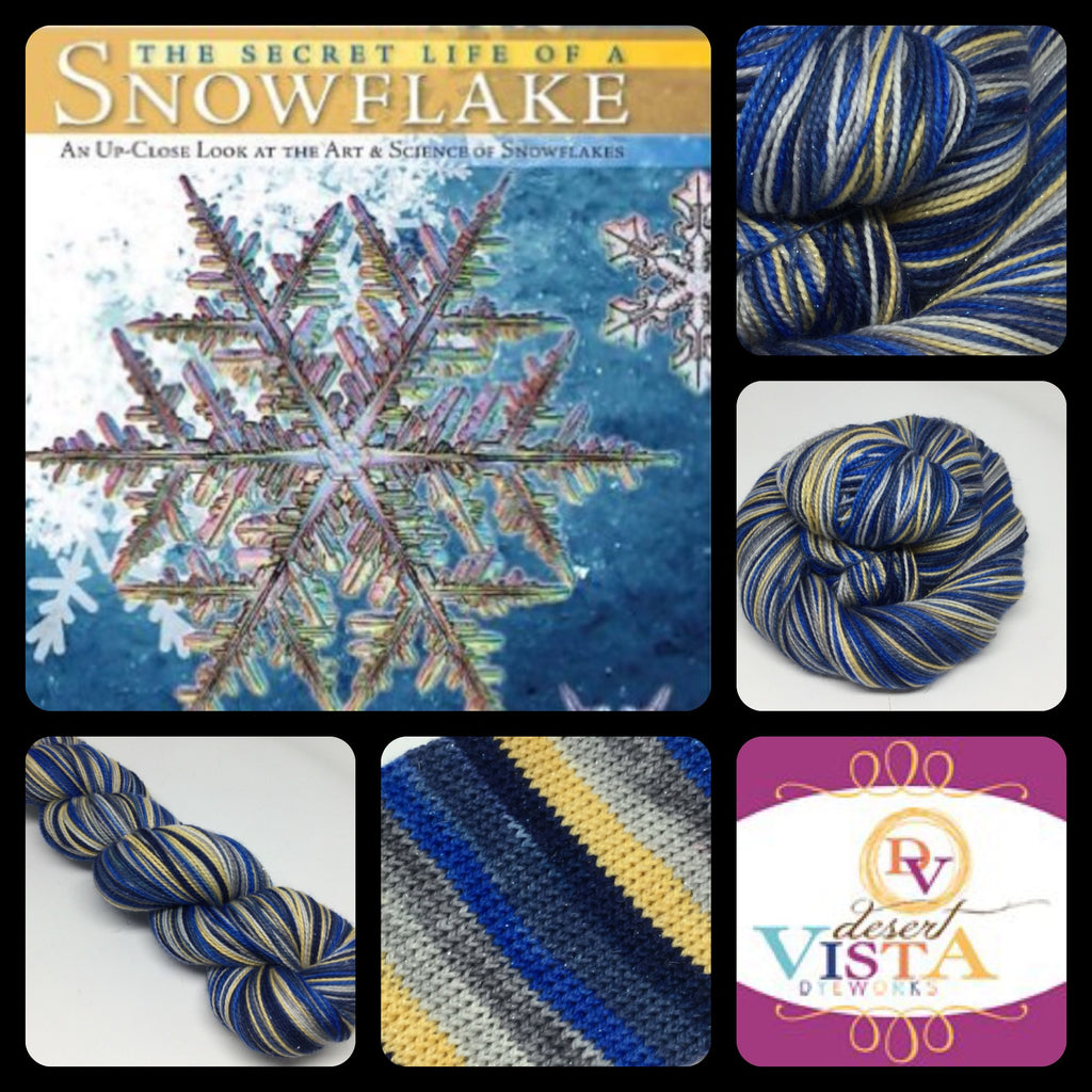 Secret Life of a Snowflake Six Stripe Self Striping Yarn