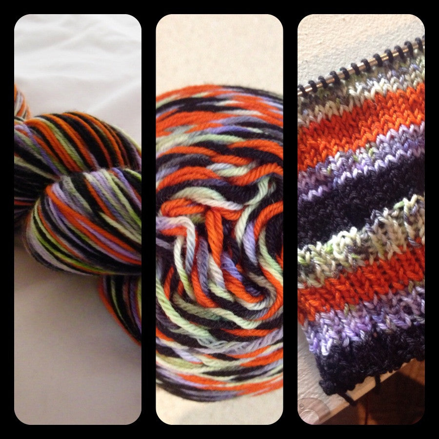 ZomBody Says Boo! Four Stripe Self Striping Yarn