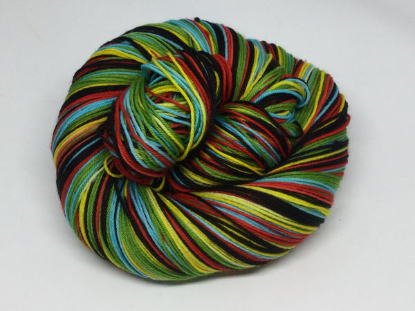 Clockwork Orange Five Stripe Self Striping Yarn