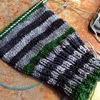 Color Accents - Green Six Stripe Self Striping Yarn