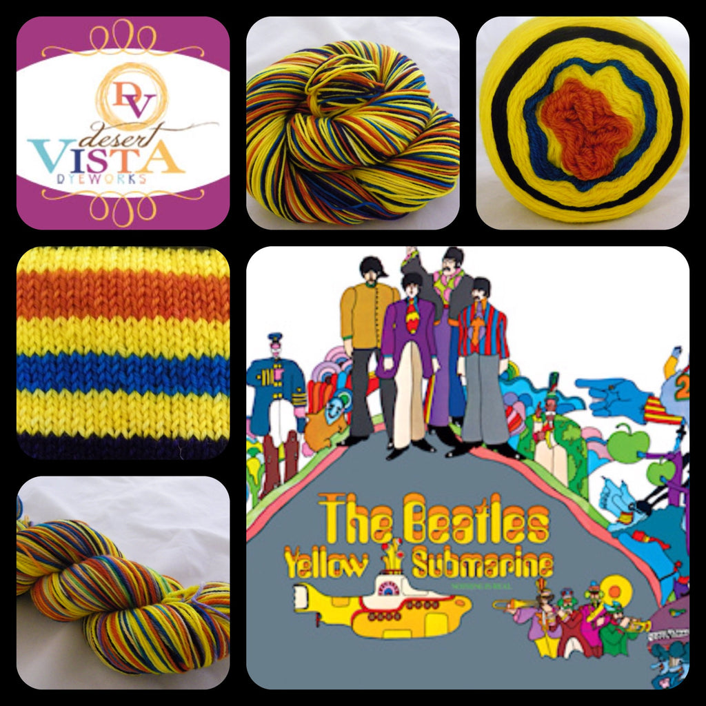 Yellow Submarine Six Stripe Self Striping Yarn