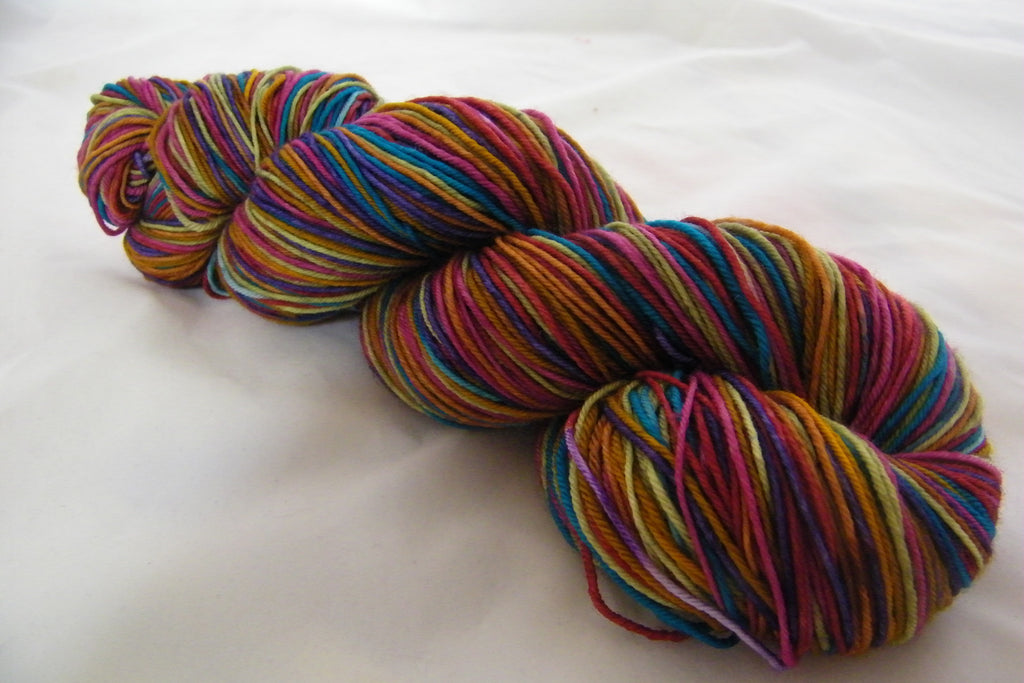 Wrapped Up in May Seven Stripe Self Striping Yarn