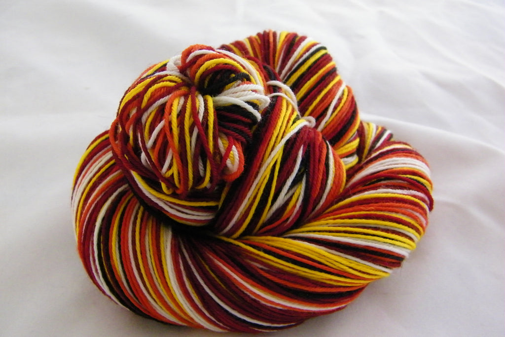 Dancing Lions Six Stripe Self Striping Yarn