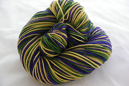 Mardis Gras Three Stripe Self Striping Yarn