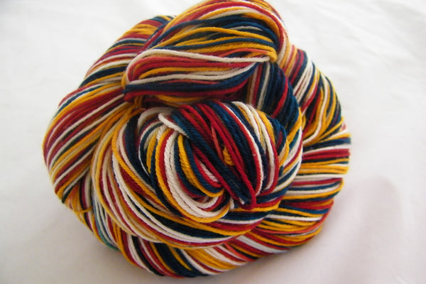 It's The End of The World Four Stripe Self Striping Yarn
