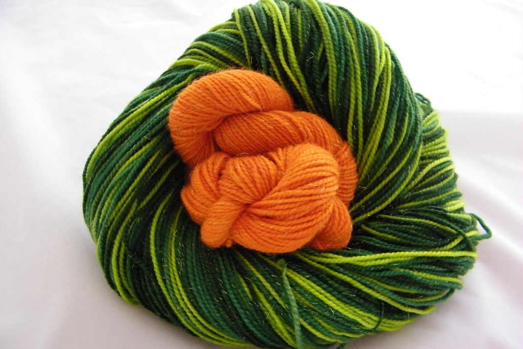 Lucky Leprechaun Three Stripe Self Striping Yarn with Mini Skein