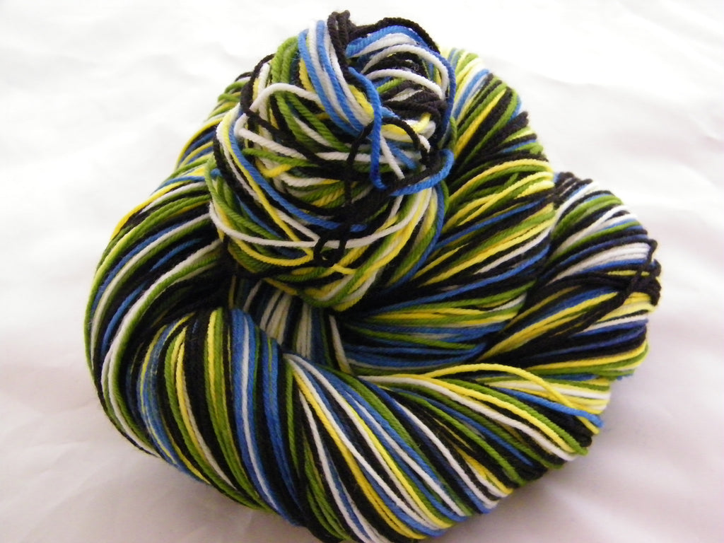 Are You a Parrot Head? Five Stripe Self Striping Yarn