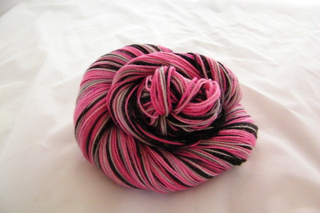 Support the Fight Four Stripe Self Striping Yarn