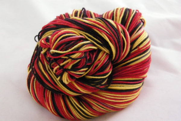 Chinese Lanterns Three Stripe Self Striping Yarn
