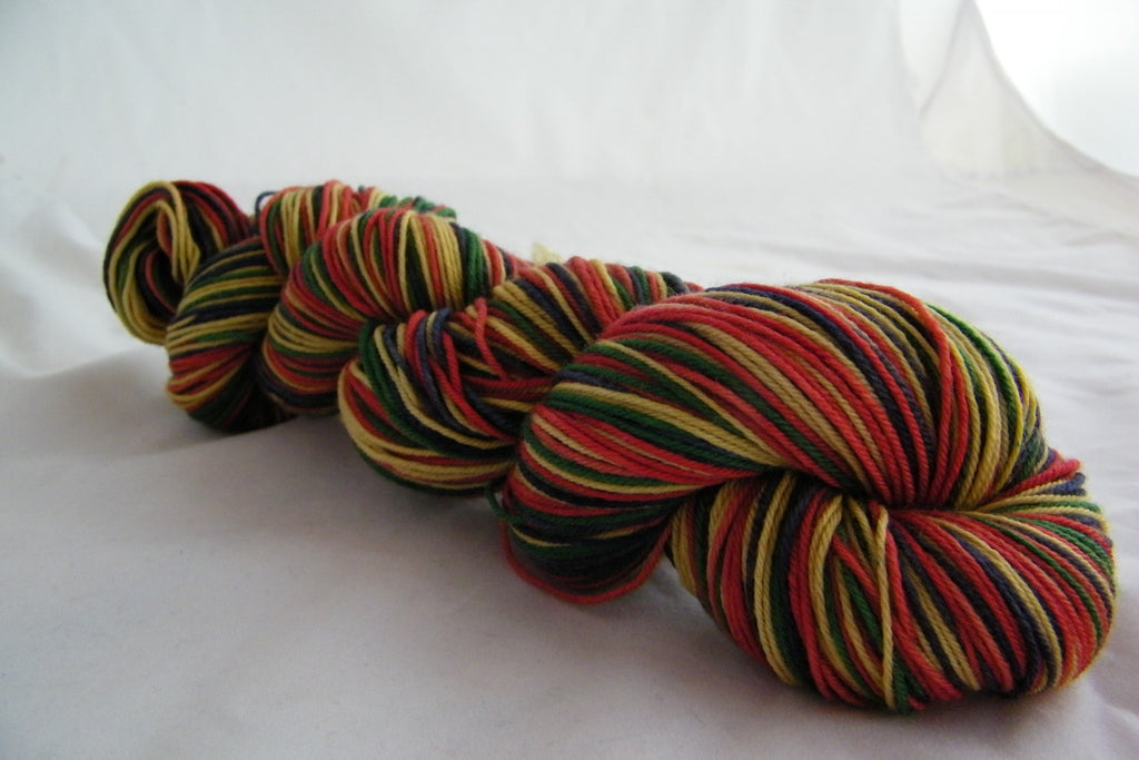 Father Christmas Four Stripe Self Striping Yarn