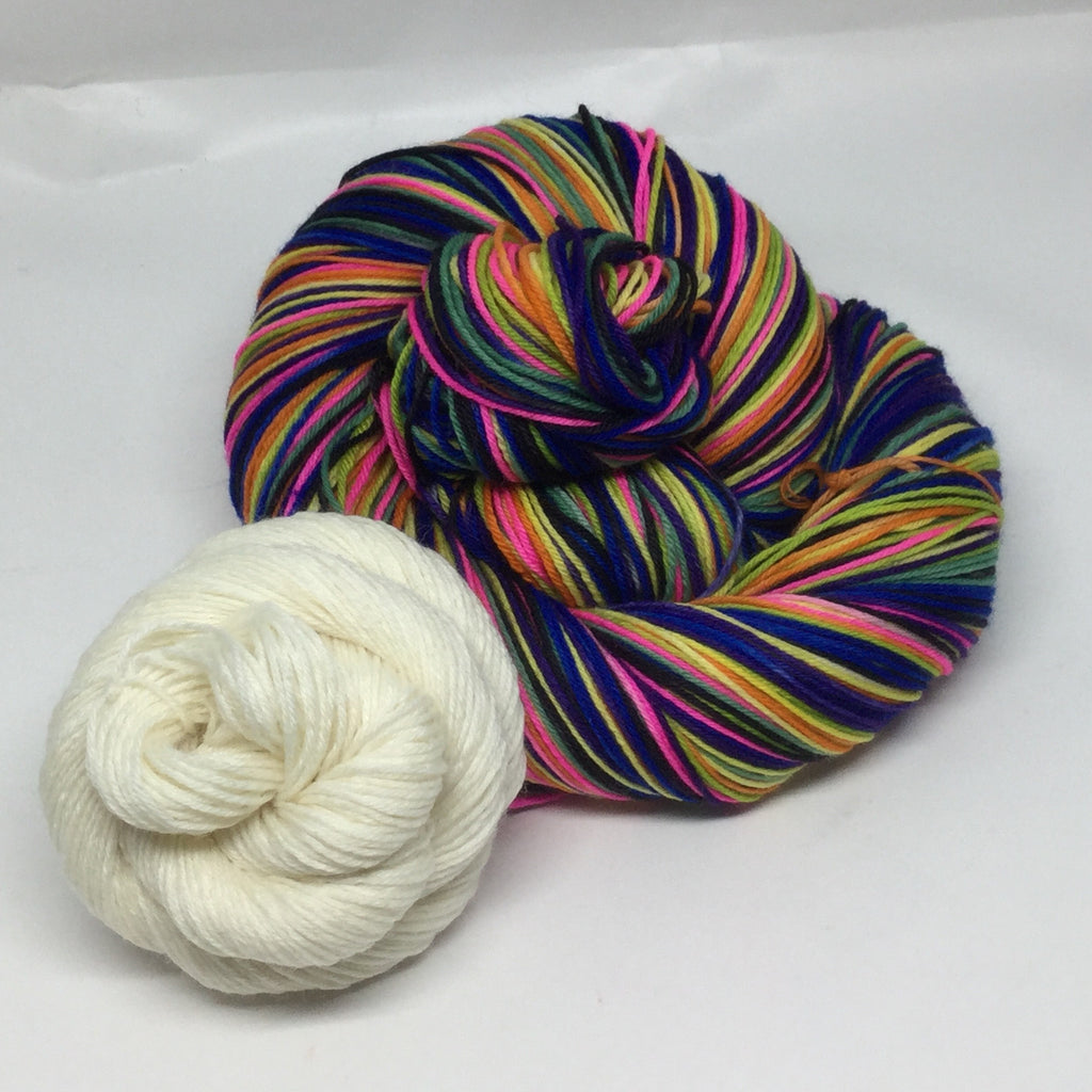 Don Quixote Eight Stripe Self Striping Yarn with Mini Skein