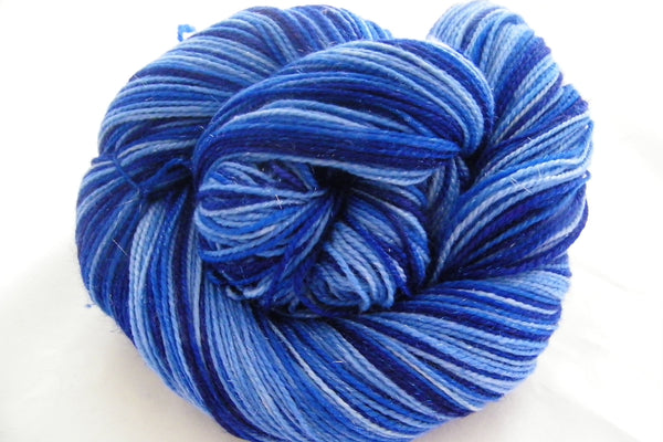 Blue Christmas Without You Six Stripe Self Striping Yarn