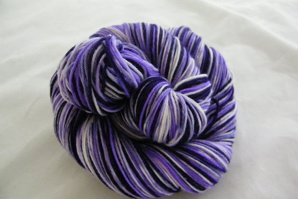 Purple Rain Six Stripe Self Striping Yarn