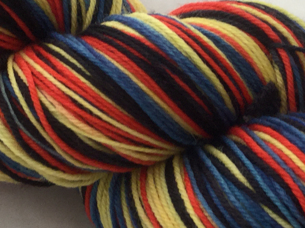 Curious George Four Stripe Self Striping Yarn