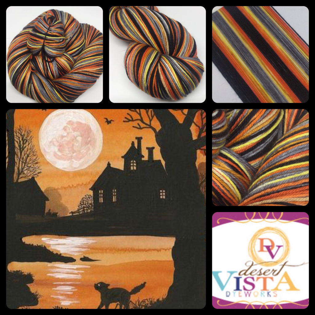 Halloween Moon Four Stripe Self Striping Yarn