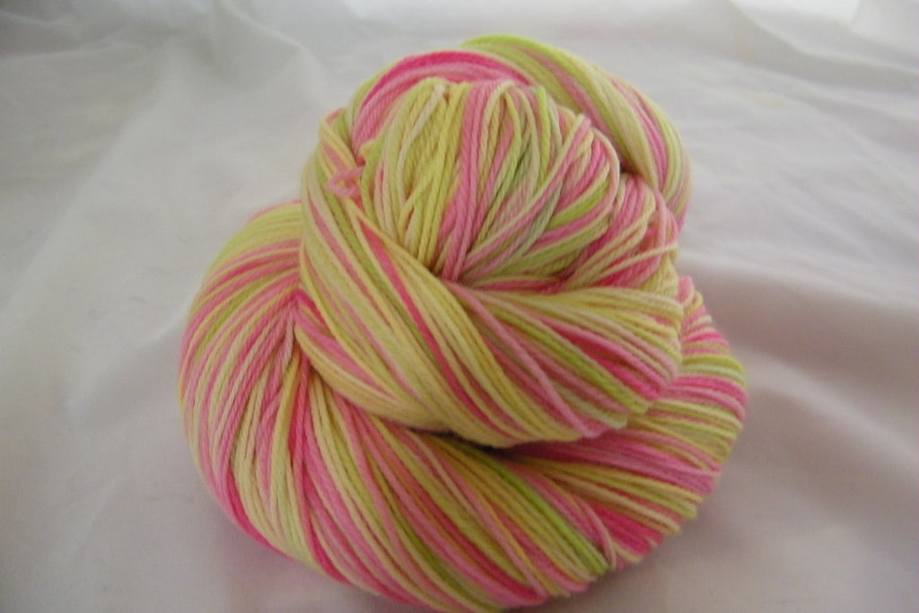 Lemon, Lime and Pink Lemonade Three Stripe Self Striping Yarn