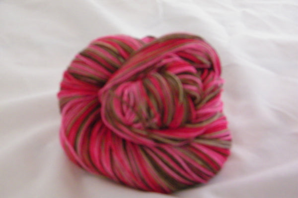 Cherry Blossom Watercolor Four Stripe Self Striping Yarn