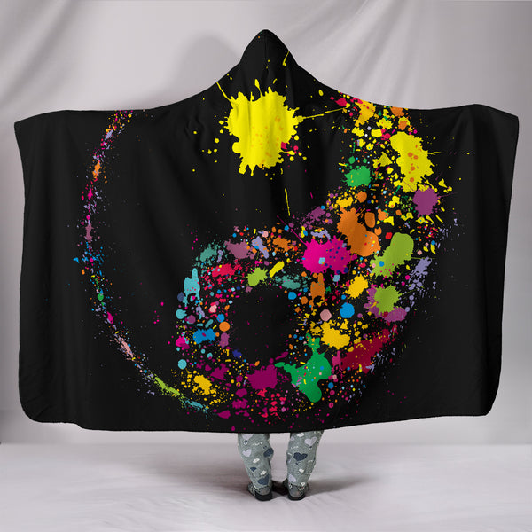 Night Yin Yang Hooded Blanket Throw