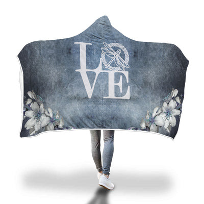 LOVE Celtic Dragonfly Hooded Blanket Throw