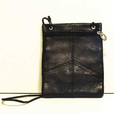 Black Leather Crossbody Snap Jewel Purse