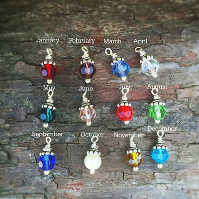 Birthstone Add on for Bracelets and Necklaces