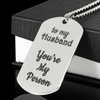 To My Husband You're My Person Engraved Stainless Steel Dog Tag