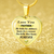 Mother She Holds Her Childrens Hearts Forever 18k Gold Heart Necklace