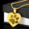 Paw Print Pet Memorial 18K Necklace