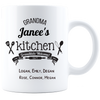 Grandma's Kitchen Grandkids Welcome Personalized Mug