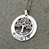 Personalized Celtic Tree of Life Necklace - Hand Stamped
