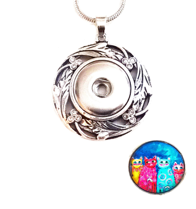 Snap Lilly Silver Necklace