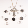 Old World Cross Snap Jewel Necklace